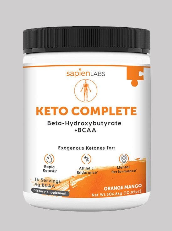 Picture of Sapien Body Keto Complete Beta Hydroxybutyrate +BCAA Orange-mango 16 servings