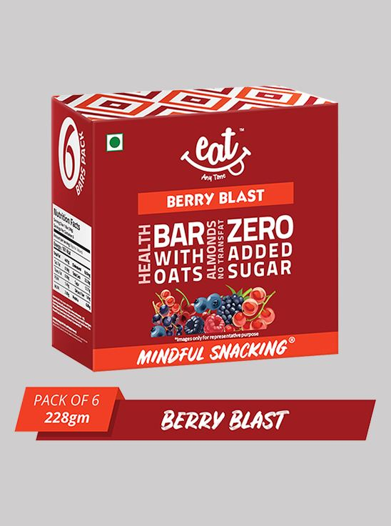 Picture of Eat Anytime Crunchy Granola And Cereal Bars Berry Blast 38 g Pack Of 6