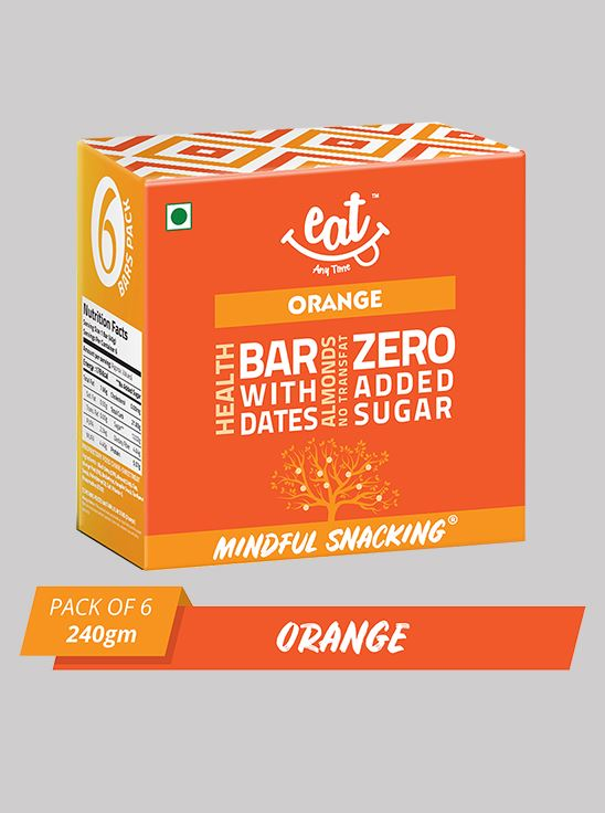 Picture of Eat Anytime Snack Bars Orange 40 g Pack Of 6
