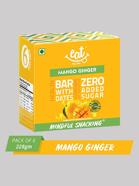 Picture of Eat Anytime Mango Ginger Energy Bars 38 g Pack Of 6