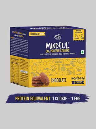 Picture of Eat Anytime Mindful Protein Cookies Chocolate Flavour 20 g Pack Of 8