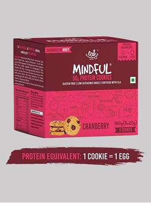 Picture of Eat Anytime Mindful Protein Cookies Cranberry 20 g Pack Of 8