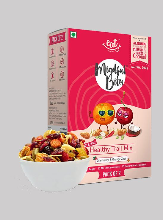Picture of Eat Anytime Mindful Bites Healthy Trial Mix, Cranberry And Orange Zest 200 g