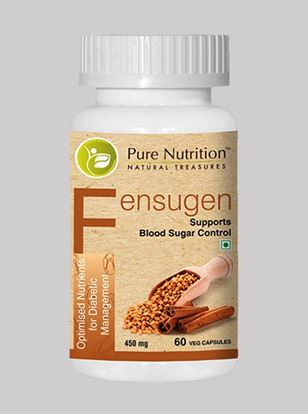 Picture of Pure Nutrition Fensugen Blood Sugar Control Optimised Nutrients for Diabetic Management 60 Veg Caps