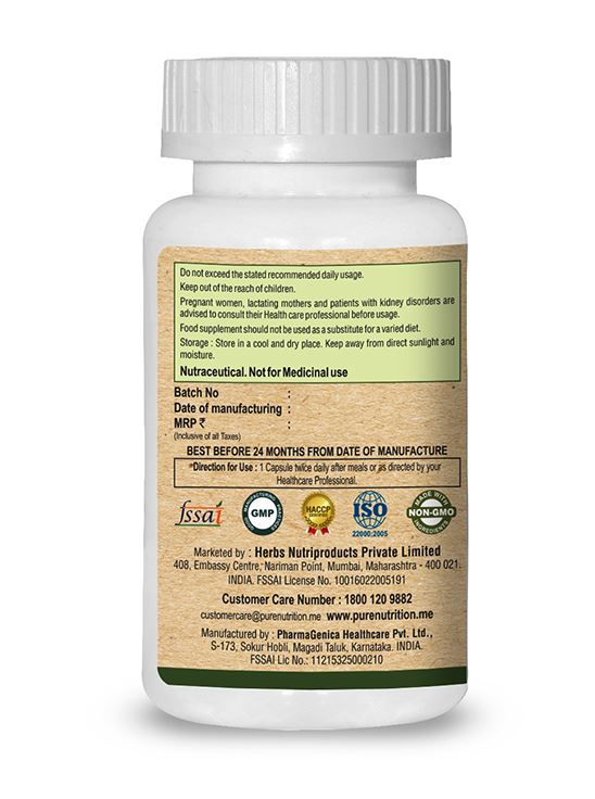 Picture of Pure Nutrition Moringa Vital Wholefood  Multi Vitamins & Trace  Minerals 60 Caps