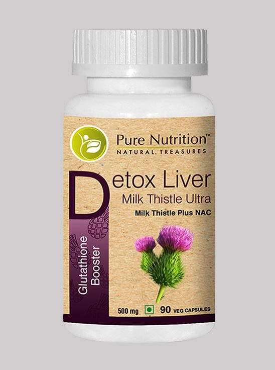 Picture of Pure Nutrition Detox Liver Milk Thistle Ultra Glutathione Booster  90 Caps