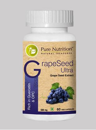 Picture of Pure Nutrition Grape Seed Ultra Rich in Quercetin & OPC 60 Caps
