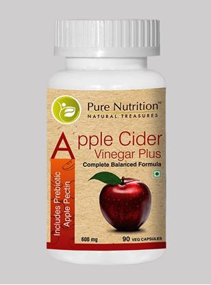 Picture of Pure Nutrition Apple Cider Vinegar Plus Includes Prebiotic Apple Pectin 90 Caps