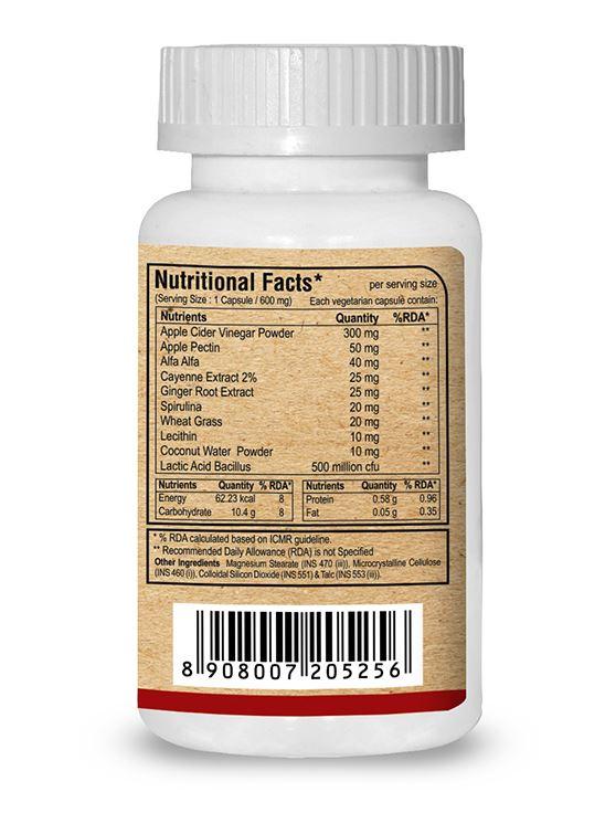 Picture of Pure Nutrition Apple Cider Vinegar Plus Includes Prebiotic Apple Pectin 90 Caps
