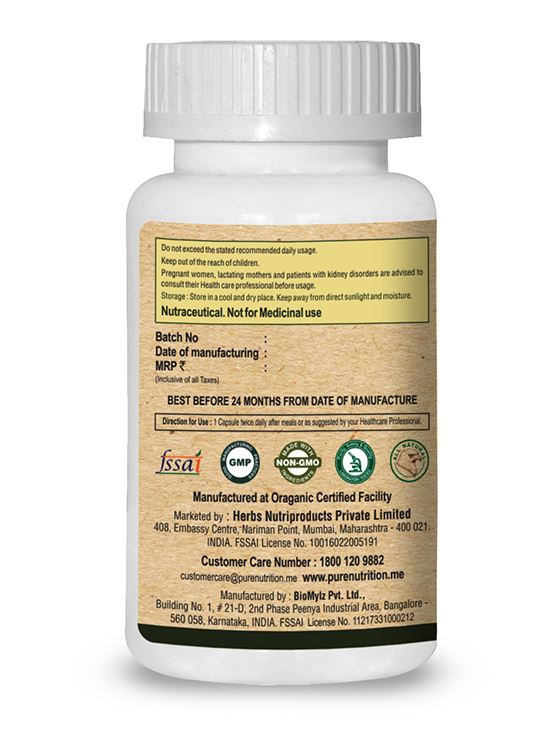 Picture of Pure Nutrition Green Coffee Bean with Chromium Promotes Metabolic Balance 60 Caps