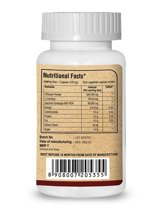 Picture of Pure Nutrition Chitomax Supports Fat Blocking & Fat Burning 60 Caps