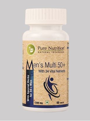 Picture of Pure Nutrition Men's Multi 50+ For men approaching or past their 50s - 60 Tablets