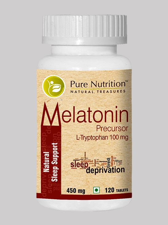 Picture of Pure Nutrition Melatonin Precursor L tryptophan 100mg 120 Tablets