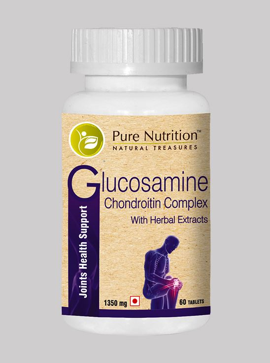 Picture of Pure Nutrition Glucosamine Chondroitin Complex with Herbal Extracts 60 Tablets