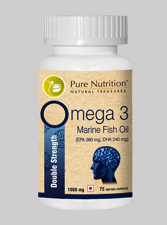 Picture of Pure Nutrition Omega 3 Double Strength 75 Softgel Caps