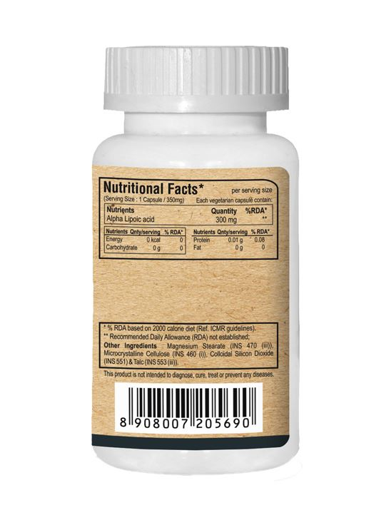 Picture of Pure Nutrition Alpha Lipoic Acid Optimum Anti-Oxidant Support 60 Caps