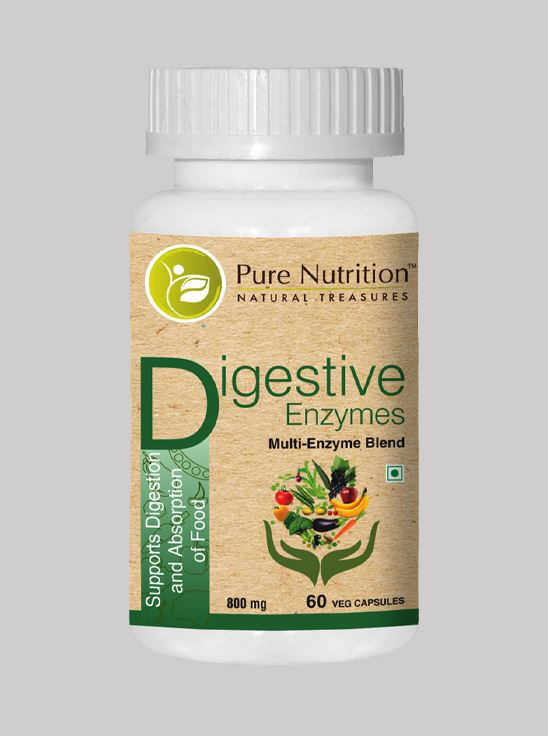 Picture of Pure Nutrition Digestive Enzymes Multi-Enzyme Blend 60 Caps
