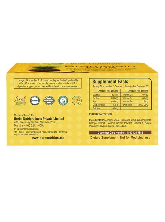 Picture of Pure Nutrition Bromelain Plus 15 Sachets