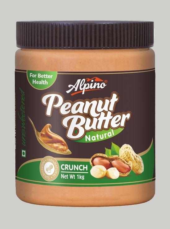 Picture of Alpino Natural Peanut Butter Crunch Unsweetened / Gluten Free / Non-GMO 1kg