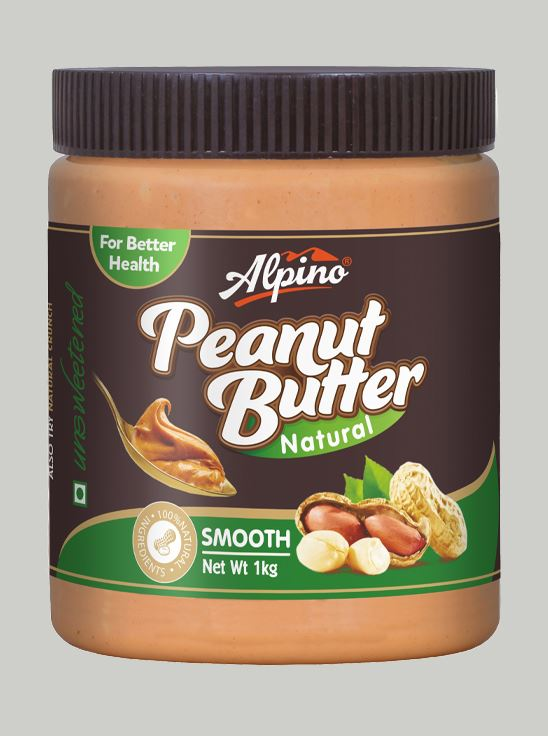 Picture of Alpino Natural Peanut Butter Smooth Unsweetened / Gluten Free / Non-GMO 1kg