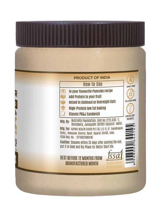Picture of Alpino Natural Peanut Butter Powder Unsweetened / Gluten Free / Non-GMO 400 g