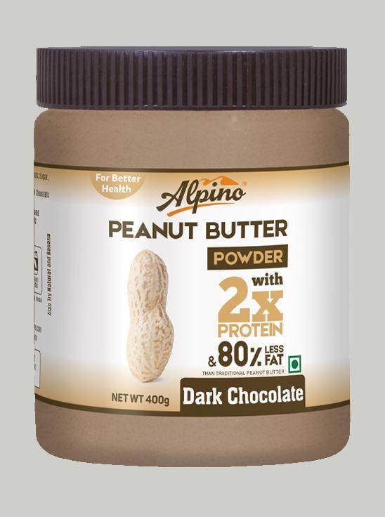 Picture of Alpino Peanut Butter Powder Dark Chocolate Gluten Free / Non-GMO 400 g