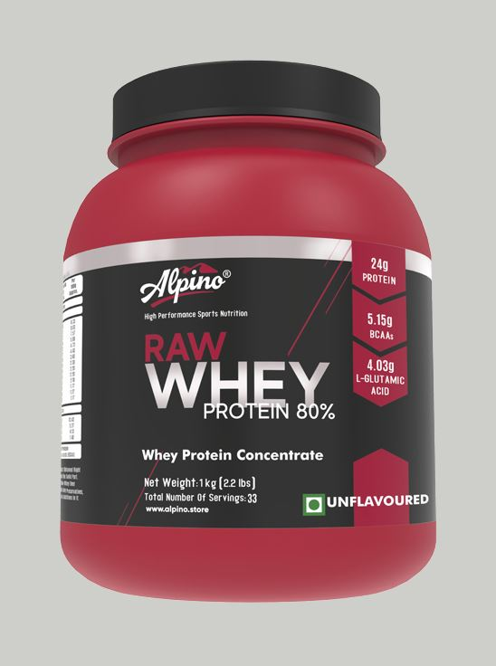 Picture of Alpino 80% Raw Whey Protein Unflavored 1kg / 2.2lbs