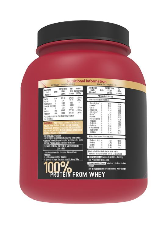 Picture of Alpino Sports Series 100% Whey Protein Powder Intense Chocolate 1kg / 2.2lbs