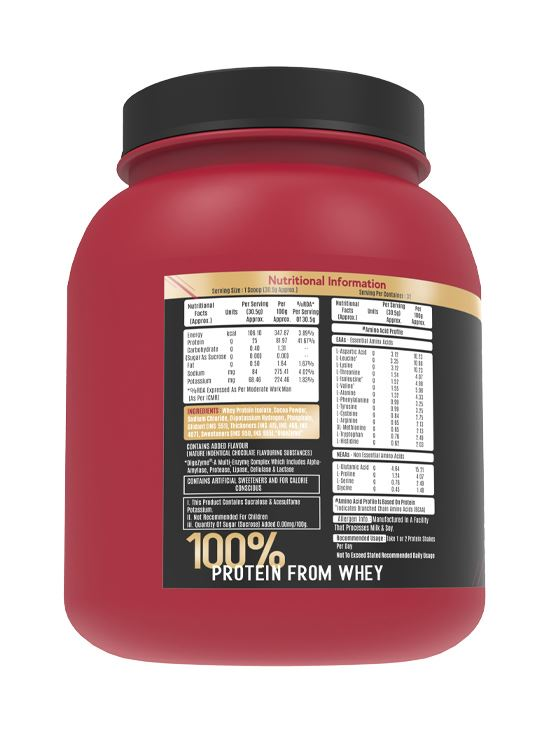 Picture of Alpino Sports Series 100% Whey Protein Isolate Intense Chocolate 1kg / 2.2lbs