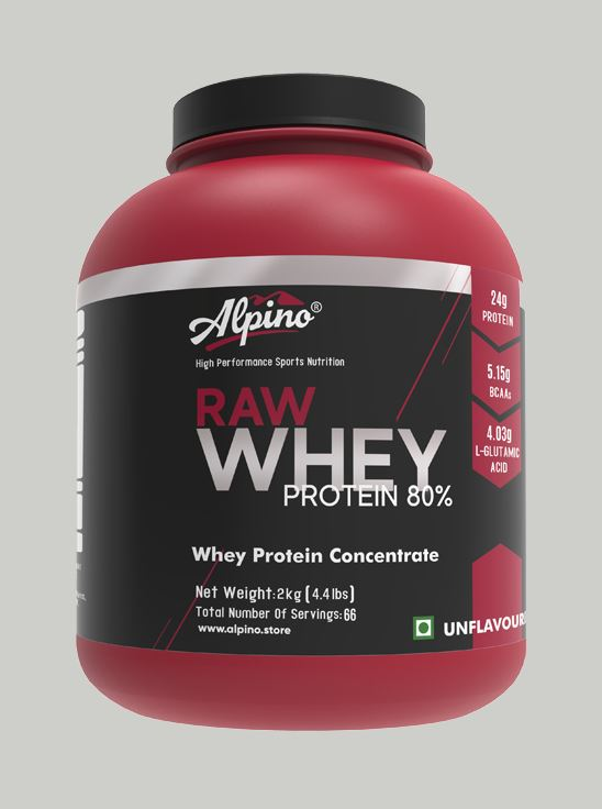 Picture of Alpino  80% Raw Whey Protein Unflavored 2kg / 4.4lbs