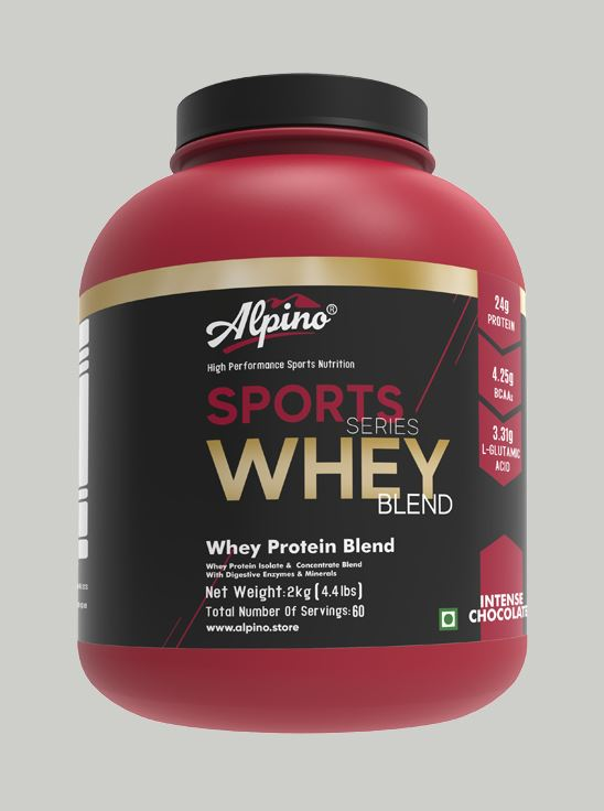 Picture of Alpino Sports Series 100% Whey Protein Powder Intense Chocolate 2kg / 4.4lbs