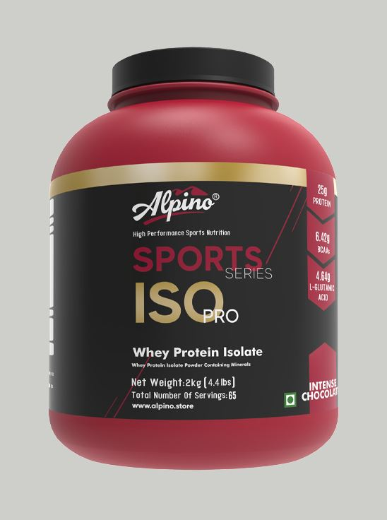 Picture of Alpino Sports Series 100% Whey Protein Isolate Intense Chocolate 2kg / 4.4lbs