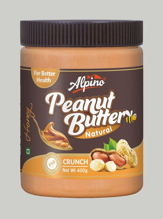 Picture of Alpino Natural Honey Peanut Butter Crunch Gluten Free / Non-GMO 400g