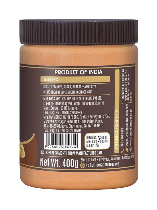 Picture of Alpino Classic Peanut Butter Smooth Gluten Free / Non-GMO 400g