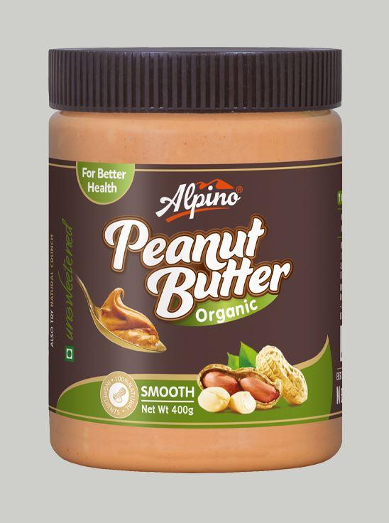Picture of Alpino Organic Natural Peanut Butter Smooth Unsweetened / Gluten Free / Non-GMO 400g