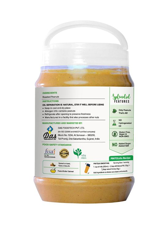 Picture of Pintola All Natural Peanut Butter Creamy Unsweetened 2.5kg