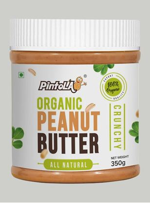Picture of Pintola Organic All Natural Peanut Butter Crunchy Unsweetened 350gm