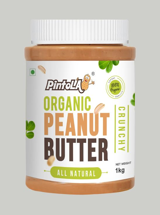 Picture of Pintola Organic All Natural Peanut Butter Crunchy Unsweetened 1kg
