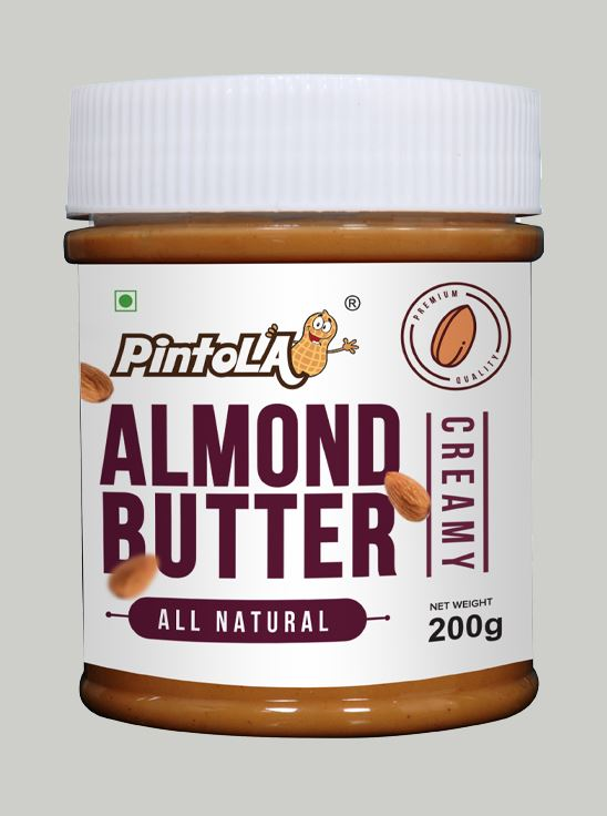 Picture of Pintola All Natural Almond Butter Creamy Unsweetened 200gm
