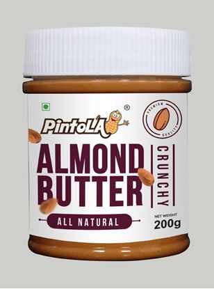Picture of Pintola All Natural Almond Butter Crunchy Unsweetened 200gm