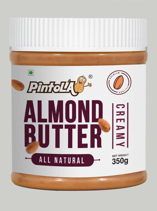 Picture of Pintola All Natural Almond Butter Creamy Unsweetened 350gm