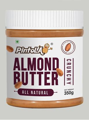 Picture of Pintola All Natural Almond Butter Crunchy Unsweetened 350gm