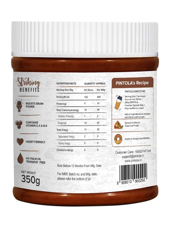 Picture of Pintola Hazelnut Cocoa Spread 350gm