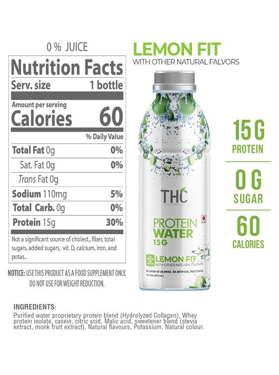 Picture of The Healthy Cup - Variety Pack (Berry Press, Coconut Mango, Lemon Fit) | Protein Water 1500ml (Pack of 3)