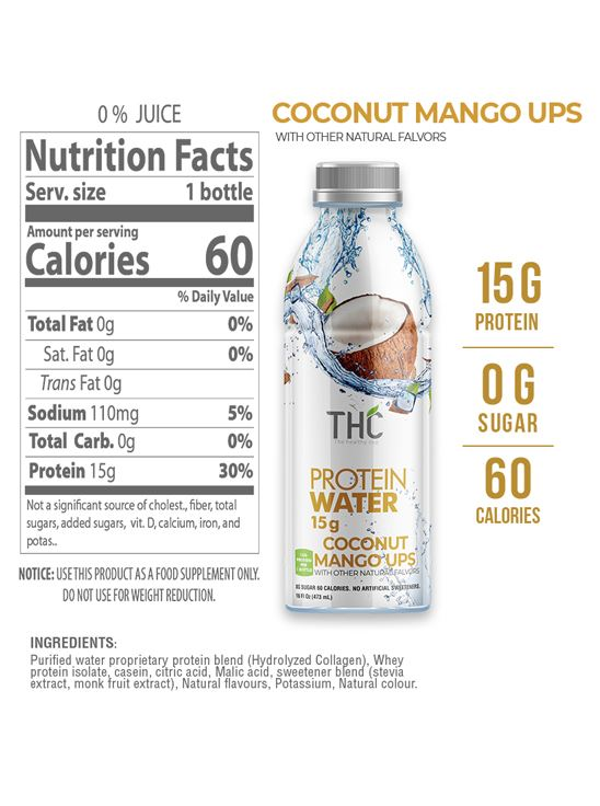 Picture of The Healthy Cup - Coconut & Mango | Protein Water 1500ml (Pack of 3)