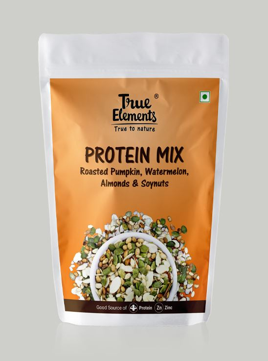 Picture of True Elements Protein Mix Roasted Pumpkin, Watermelon, Almonds & Soyanuts 125gm