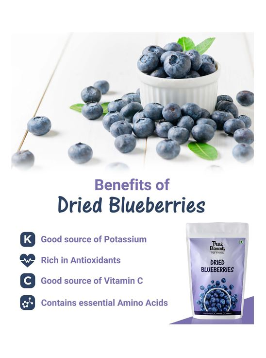 Picture of True Elements Dried Blueberries 500gm