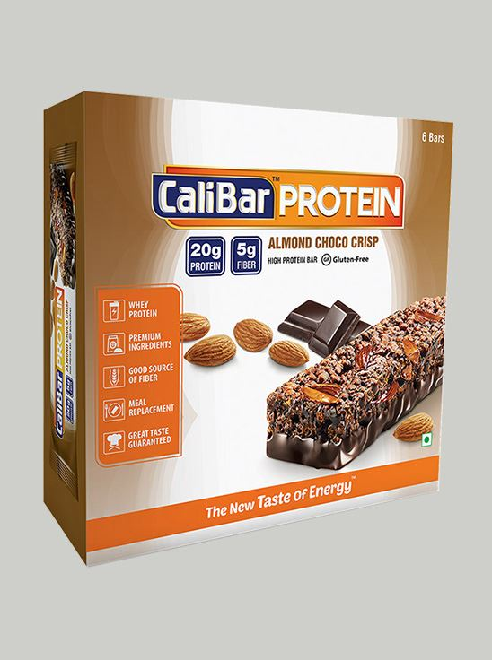 Picture of CaliBar Protein Bar Almond Choco Crisp Pack of 6