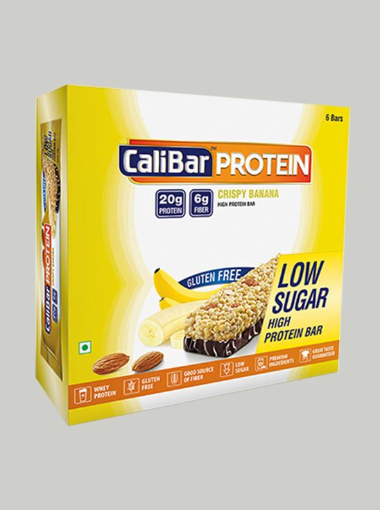 Picture of CaliBar Protein Bar Crsipy Banana Low Sugar Pack of 6