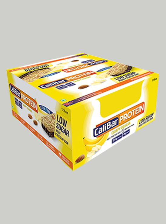 Picture of CaliBar Protein Bar Crsipy Banana Low Sugar Pack of 12